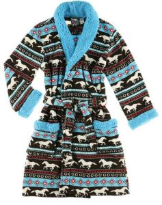 Horse Fair Isle-Adult Robe