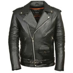 Men's Classic Side Lace Police Style Jacket