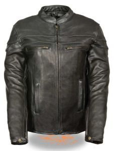 Ladies Leather Sporty Scooter Crossover Jacket