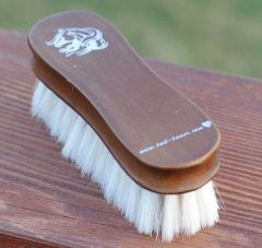 Small Goat Hair Face Brush - Wood Series
