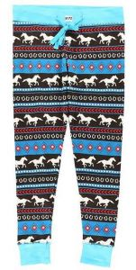 Horse Fair Isle Women's PJ Leggings